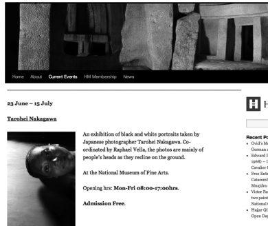 2012  Tarohei Nakagawa Photograph Work Exhibition